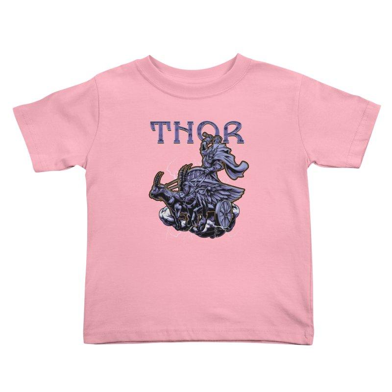 Thor Kids Toddler T-Shirt by fishark's Artist Shop