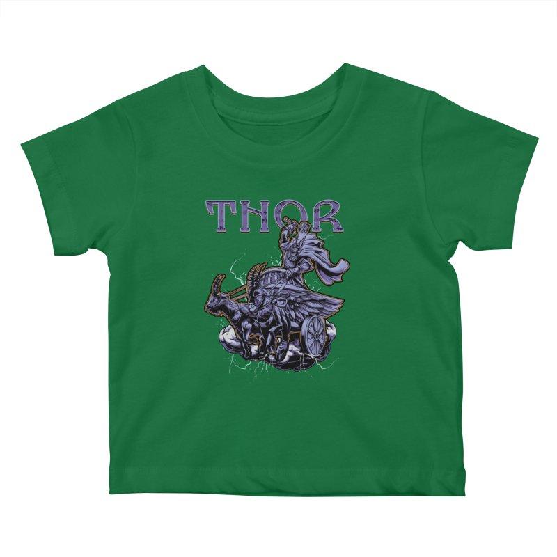 Thor Kids Baby T-Shirt by fishark's Artist Shop