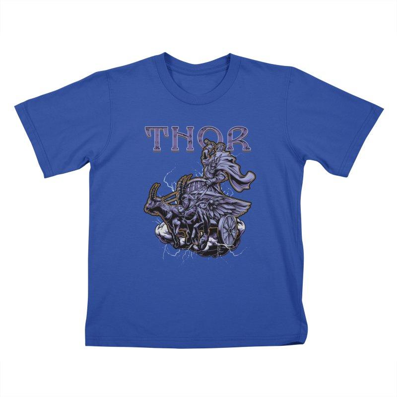 Thor Kids T-Shirt by fishark's Artist Shop