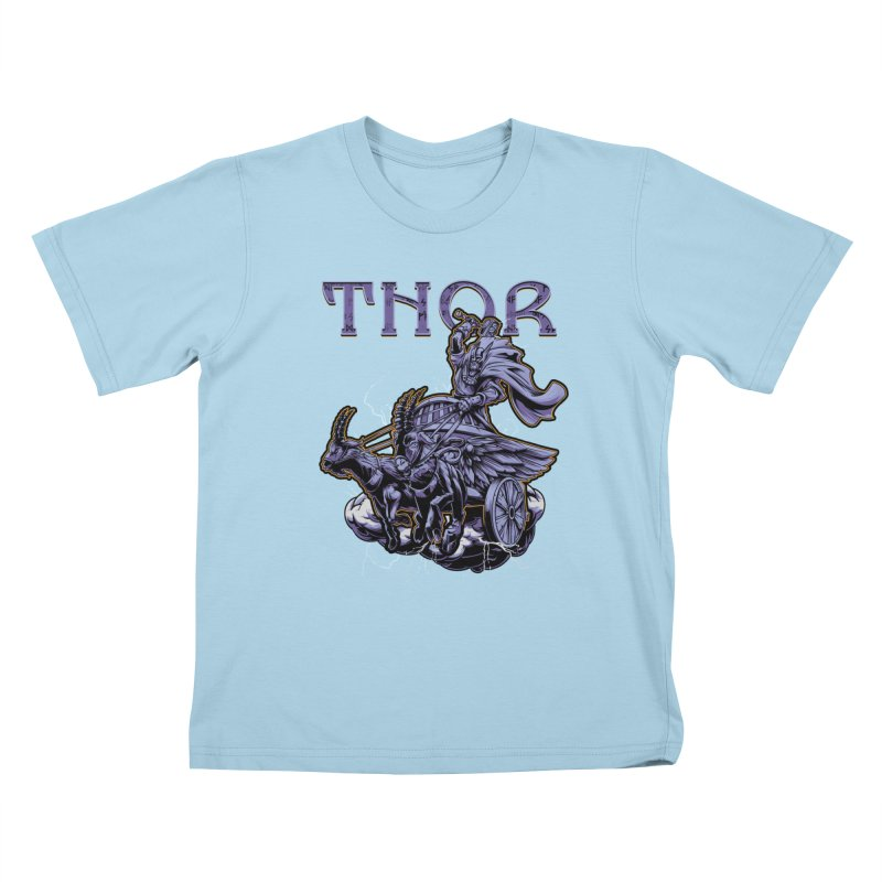 Thor Kids T-Shirt by fishark's Artist Shop