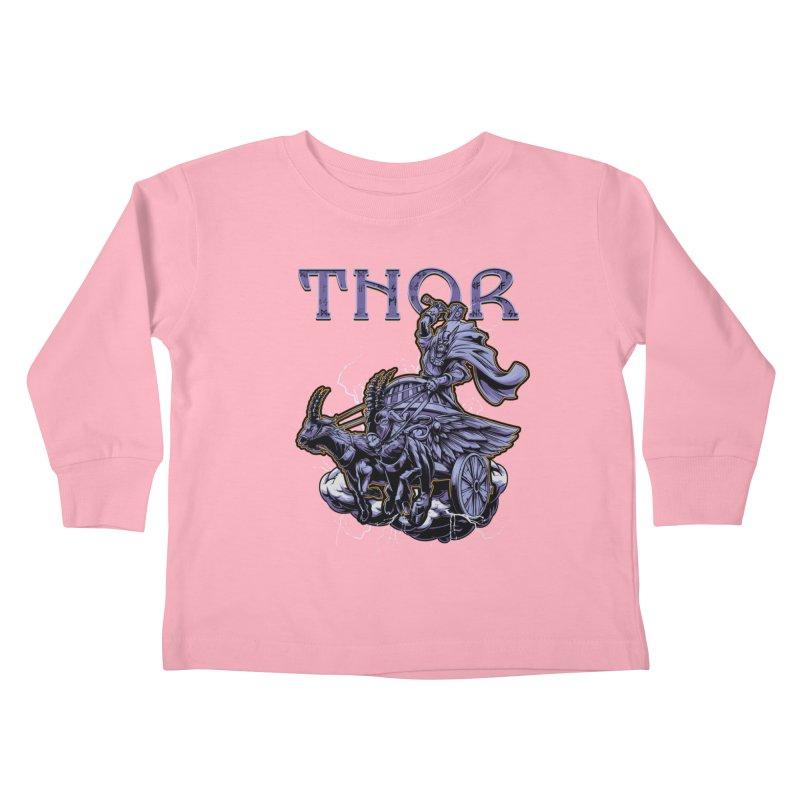 Thor Kids Toddler Longsleeve T-Shirt by fishark's Artist Shop