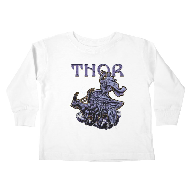 Thor Kids Toddler Longsleeve T-Shirt by fishark's Artist Shop