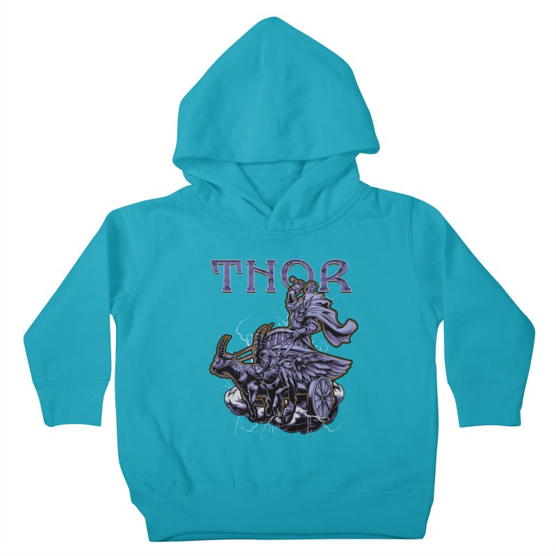 Thor Kids Toddler Pullover Hoody by fishark's Artist Shop