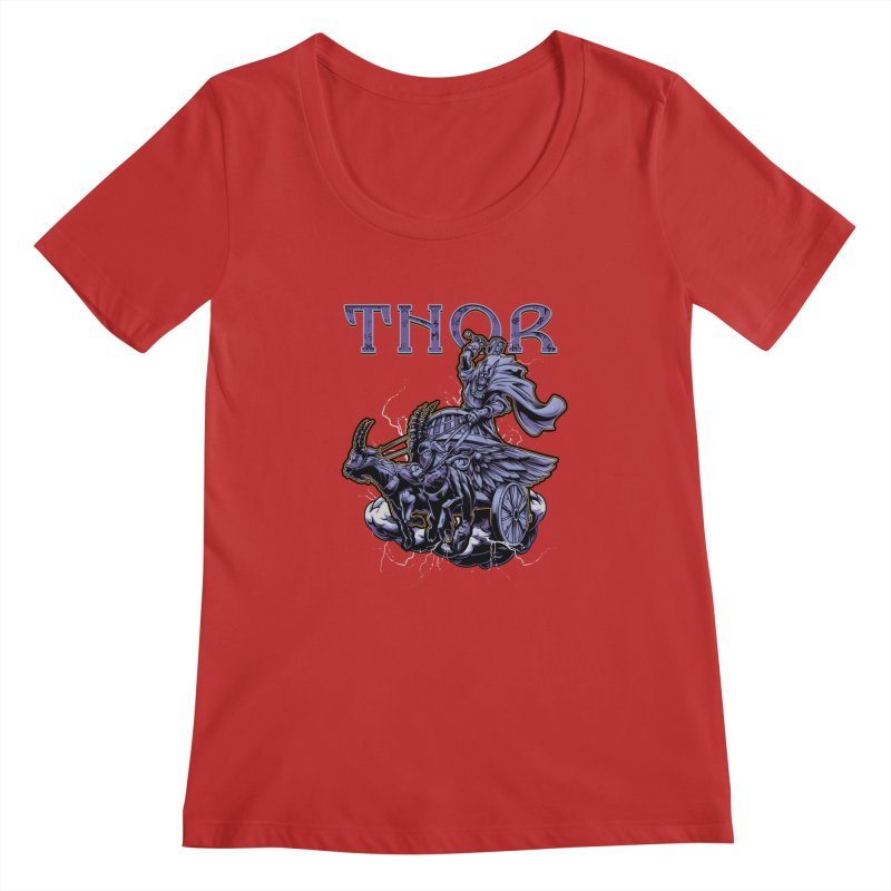 Thor Women's Scoopneck by fishark's Artist Shop