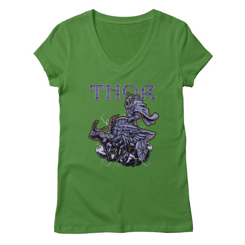 Thor Women's V-Neck by fishark's Artist Shop