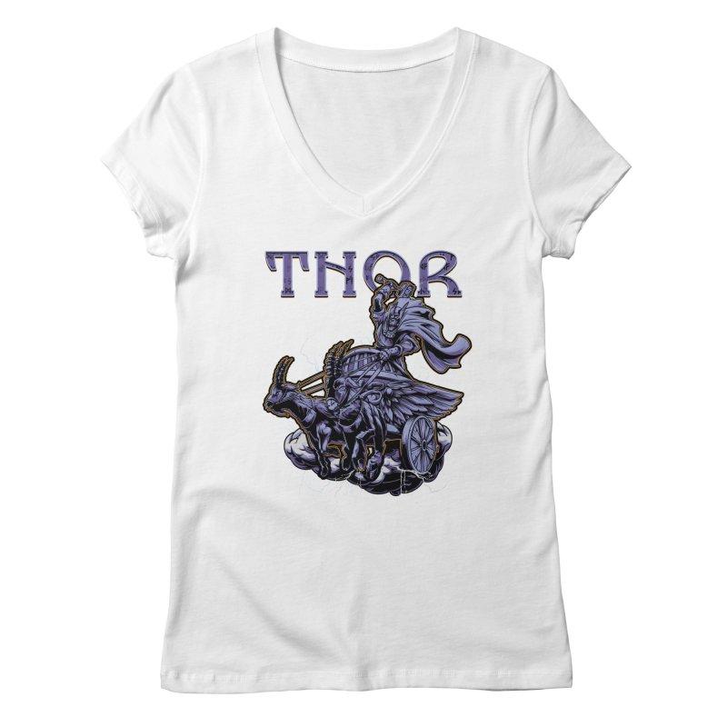 Thor Women's Regular V-Neck by fishark's Artist Shop