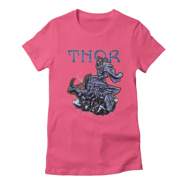 Thor Women's Fitted T-Shirt by fishark's Artist Shop