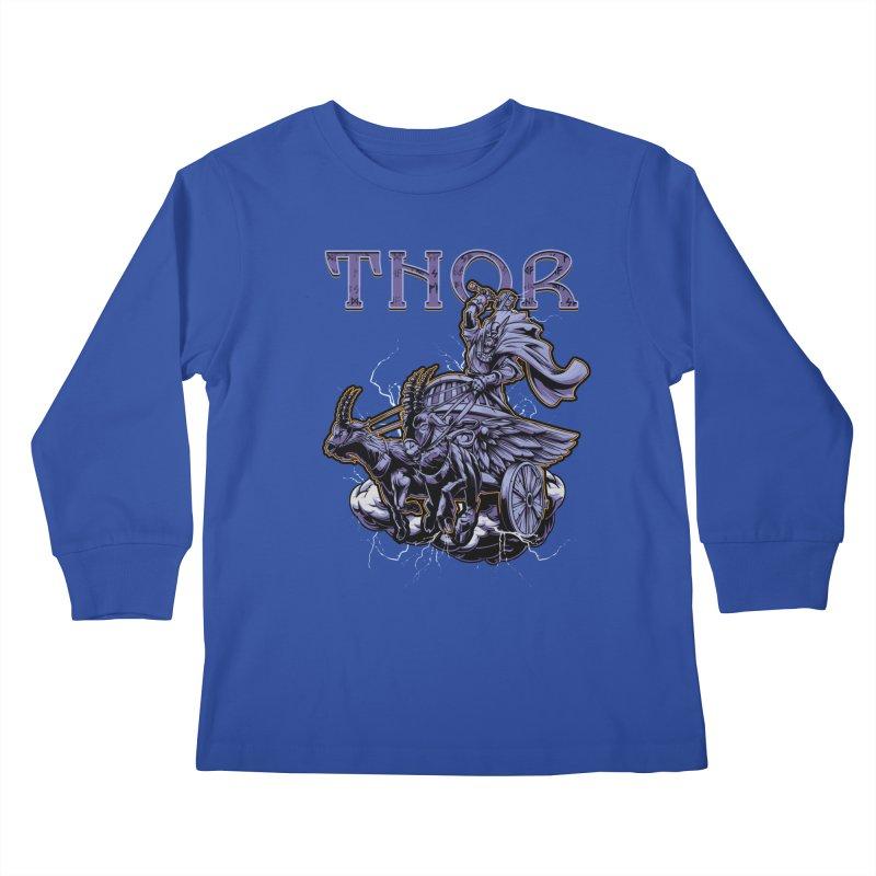 Thor Kids Longsleeve T-Shirt by fishark's Artist Shop