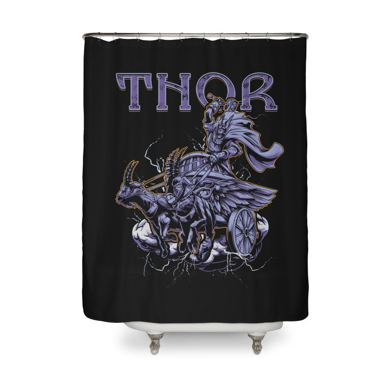 Thor Home Shower Curtain by fishark's Artist Shop