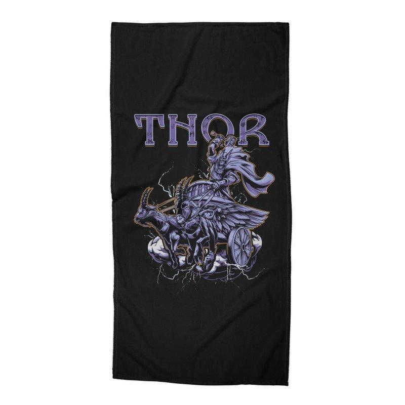 Thor Accessories Beach Towel by fishark's Artist Shop