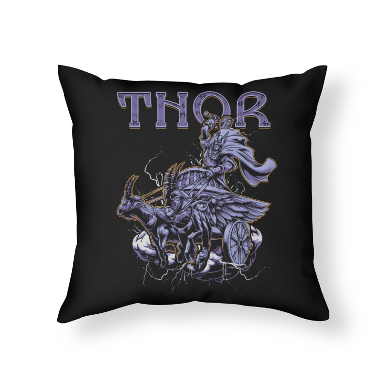 Thor Home Throw Pillow by fishark's Artist Shop