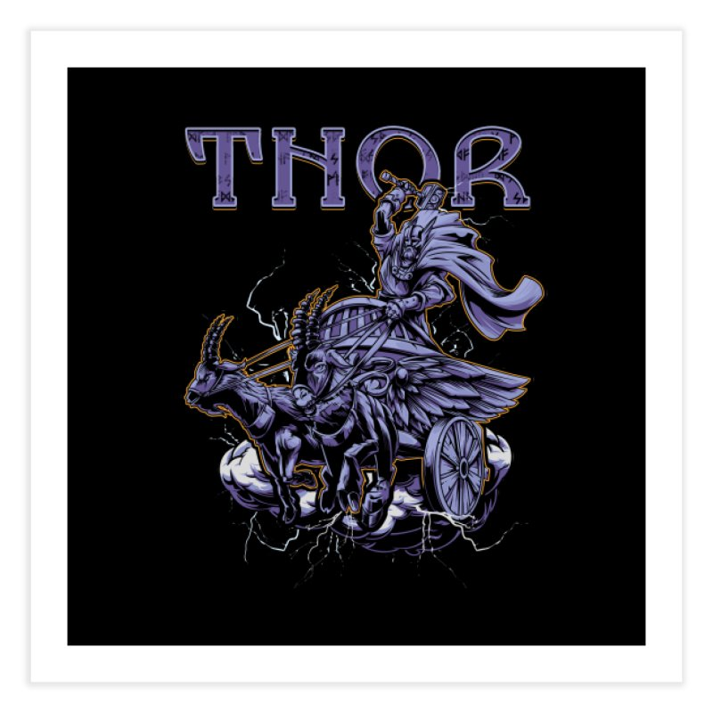 Thor Home Fine Art Print by fishark's Artist Shop