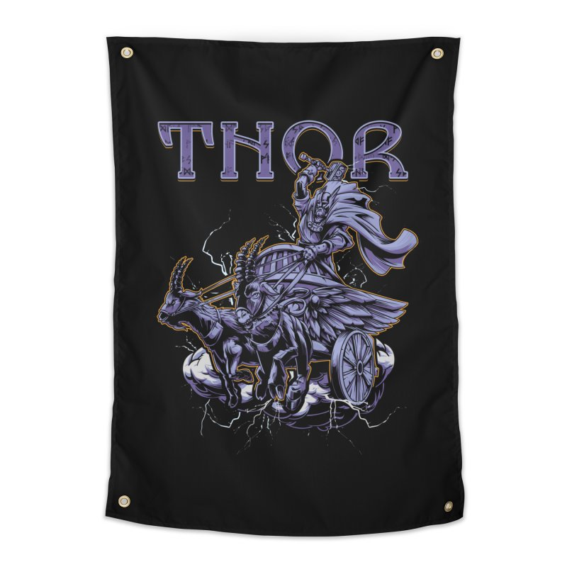 Thor Home Tapestry by fishark's Artist Shop