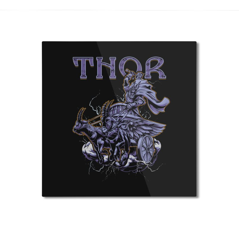 Thor Home Mounted Aluminum Print by fishark's Artist Shop