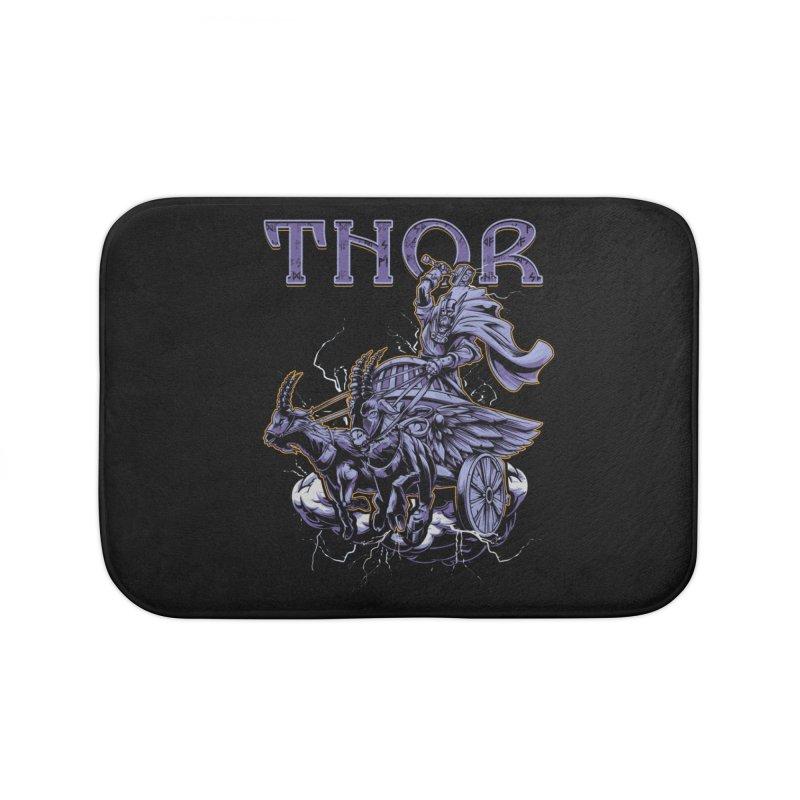 Thor Home Bath Mat by fishark's Artist Shop