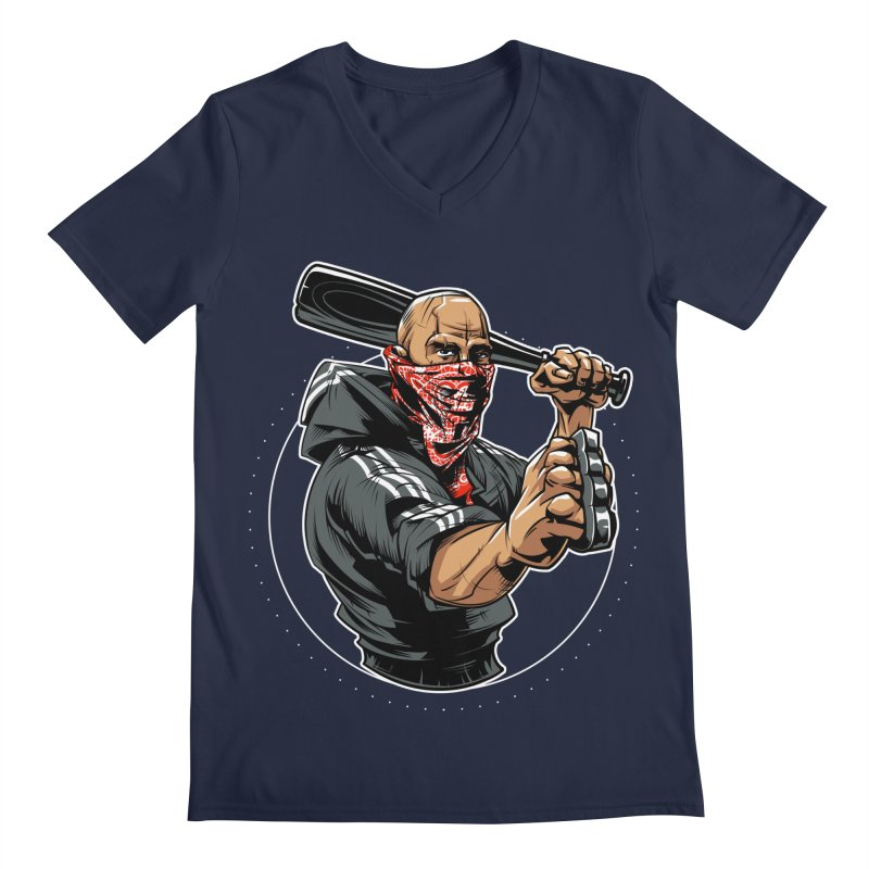 Bandit Men's Regular V-Neck by fishark's Artist Shop