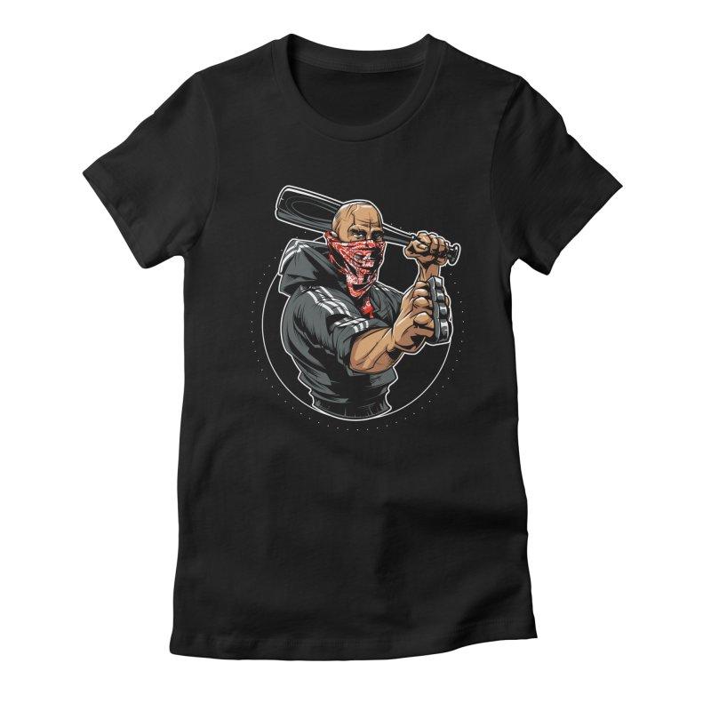 Bandit Women's Fitted T-Shirt by fishark's Artist Shop
