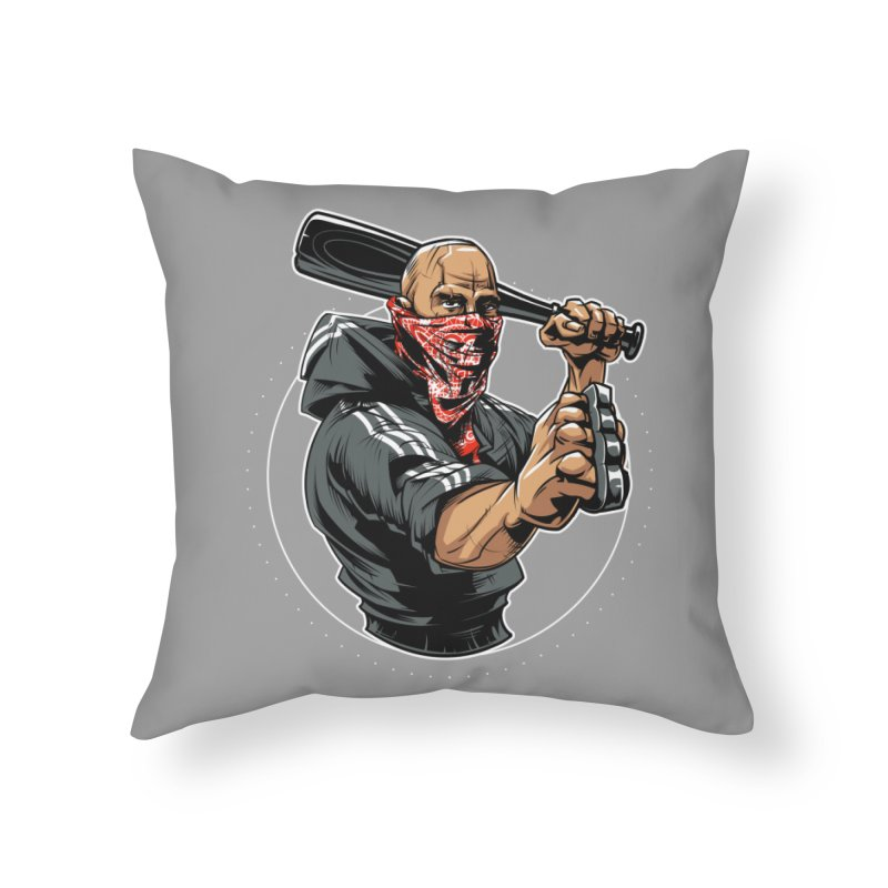 Bandit Home Throw Pillow by fishark's Artist Shop