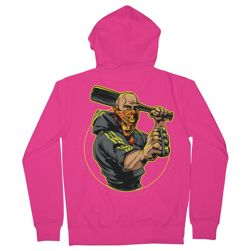 Bandit Men's French Terry Zip-Up Hoody by fishark's Artist Shop