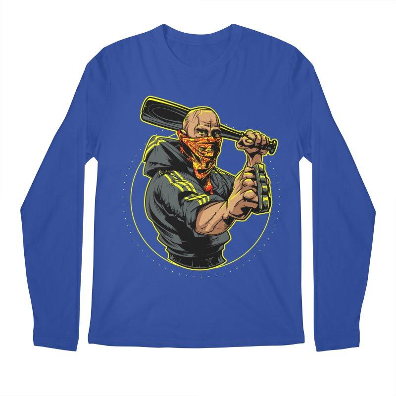 Bandit Men's Regular Longsleeve T-Shirt by fishark's Artist Shop