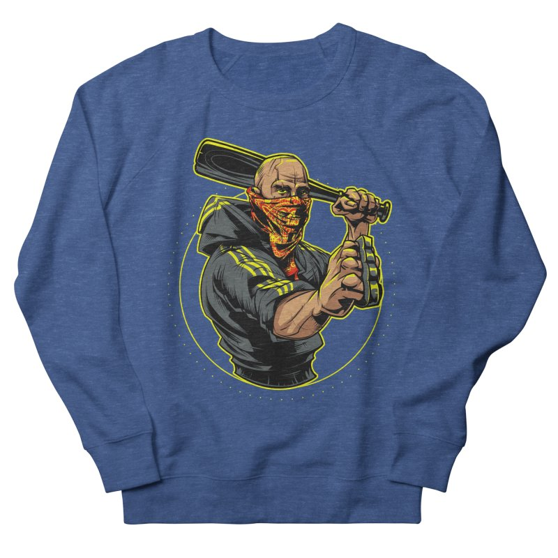 Bandit Men's French Terry Sweatshirt by fishark's Artist Shop