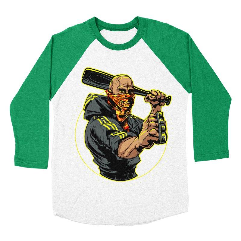 Bandit Women's Baseball Triblend Longsleeve T-Shirt by fishark's Artist Shop