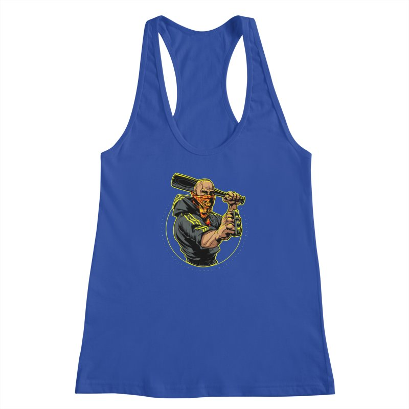 Bandit Women's Racerback Tank by fishark's Artist Shop