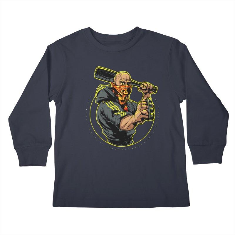 Bandit Kids Longsleeve T-Shirt by fishark's Artist Shop