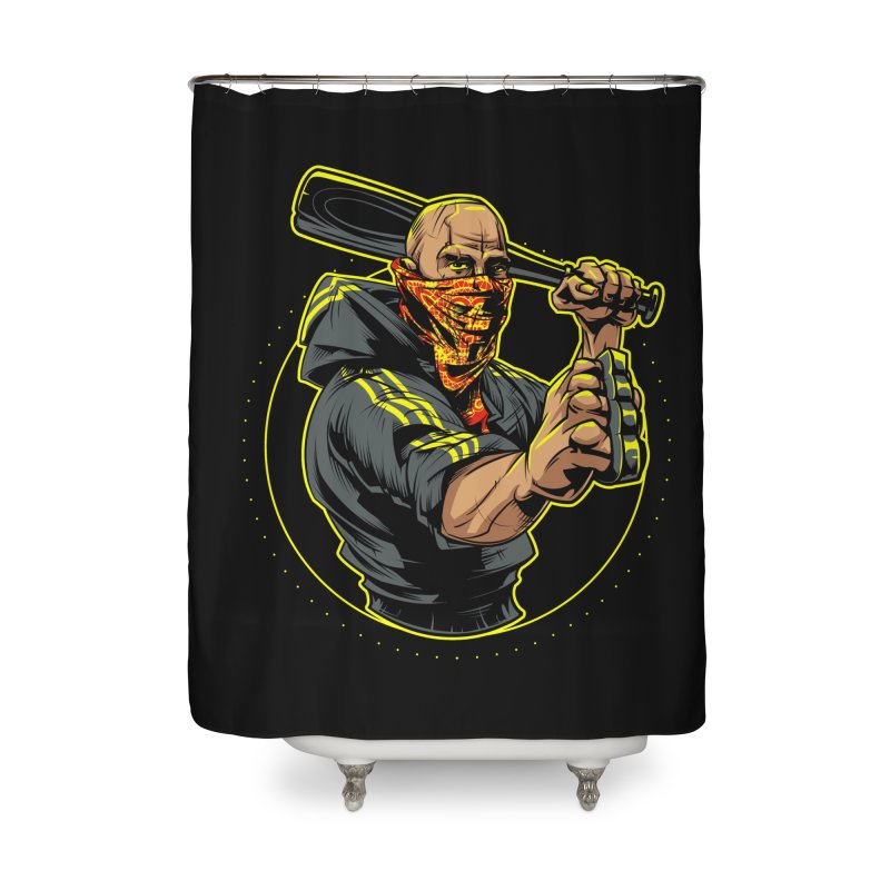 Bandit Home Shower Curtain by fishark's Artist Shop