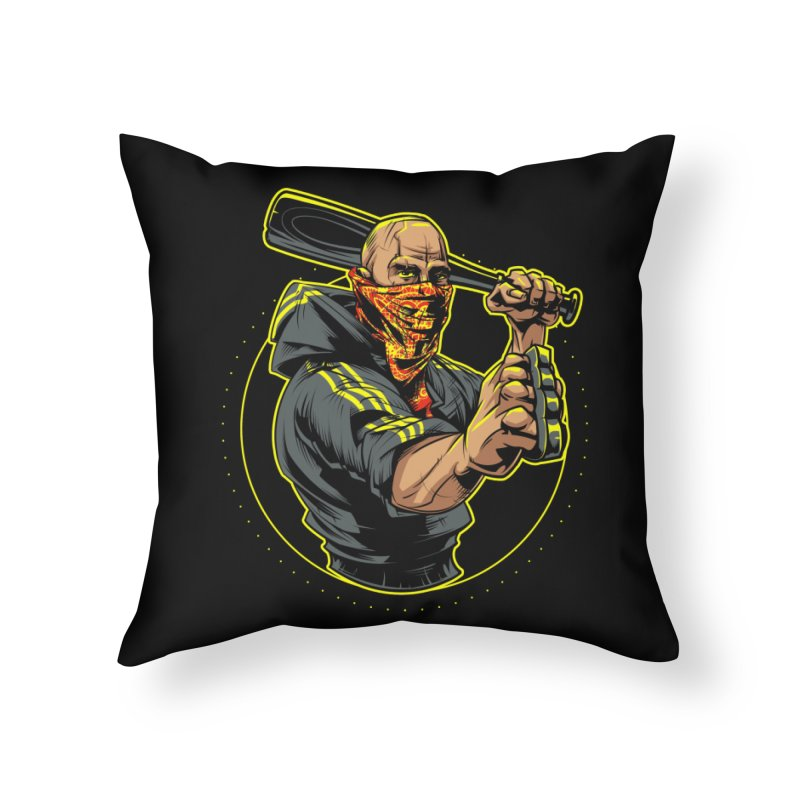 Bandit Home Throw Pillow by fishark's Artist Shop