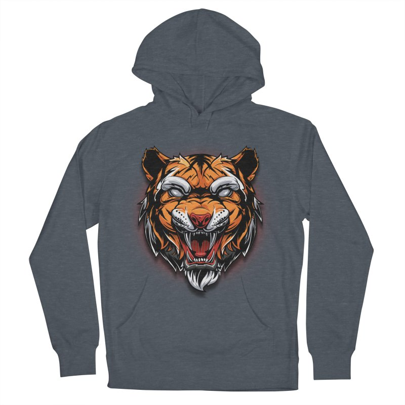 Tiger Women's French Terry Pullover Hoody by fishark's Artist Shop