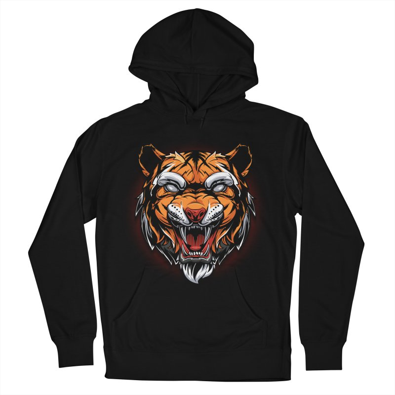 Tiger Men's French Terry Pullover Hoody by fishark's Artist Shop
