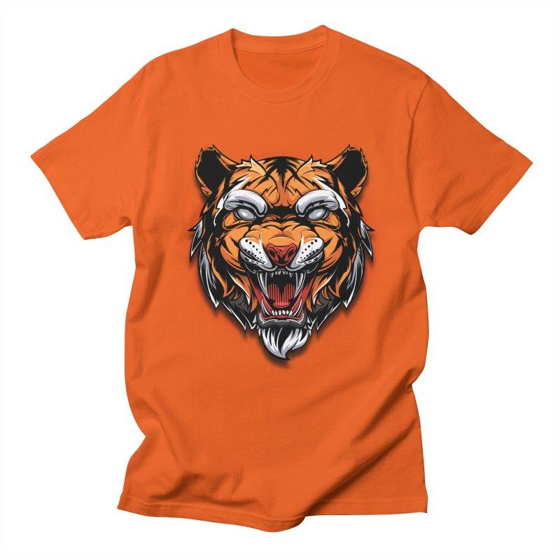 Tiger Women's Regular Unisex T-Shirt by fishark's Artist Shop