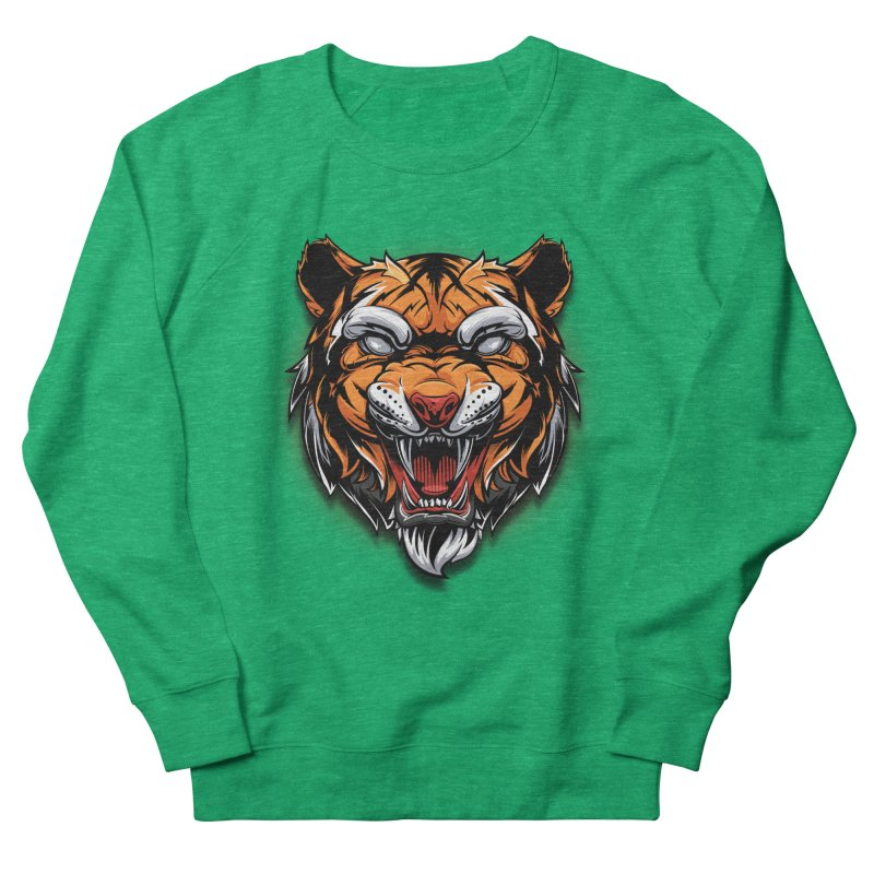 Tiger Women's French Terry Sweatshirt by fishark's Artist Shop
