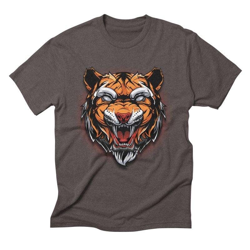 Tiger Men's Triblend T-Shirt by fishark's Artist Shop