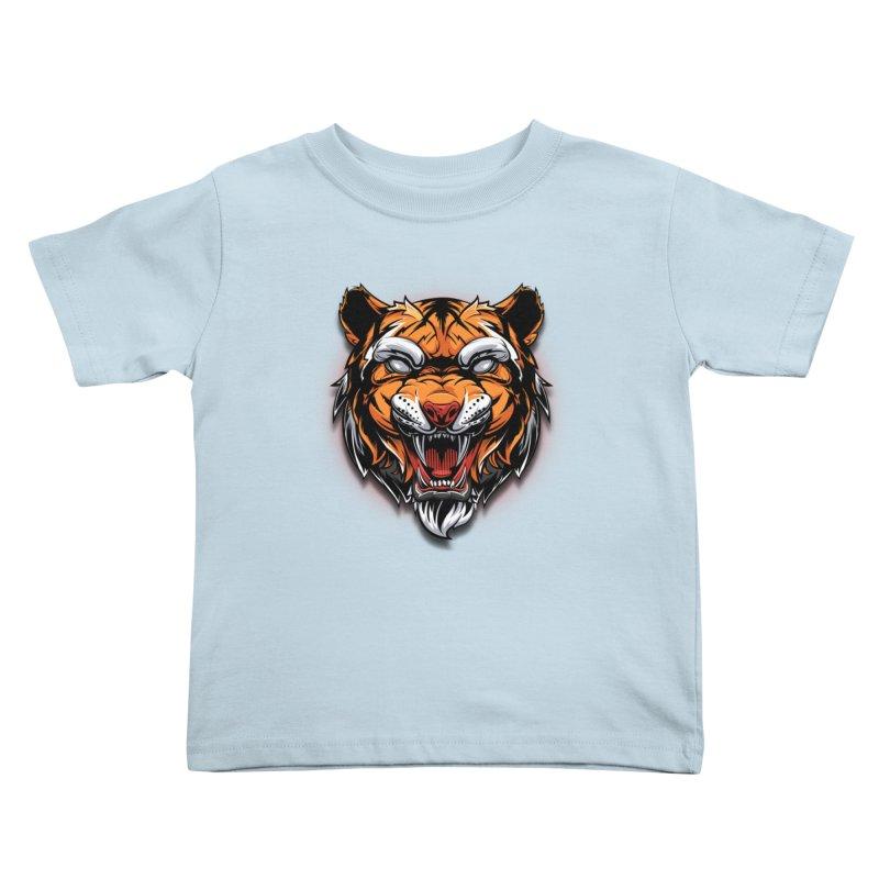 Tiger Kids Toddler T-Shirt by fishark's Artist Shop