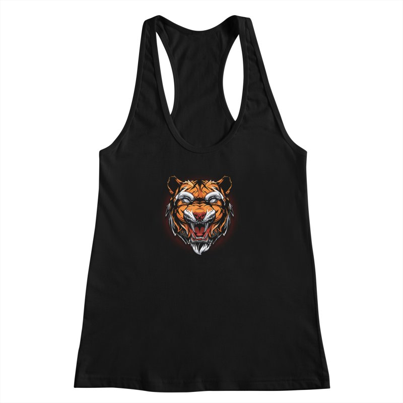Tiger Women's Racerback Tank by fishark's Artist Shop