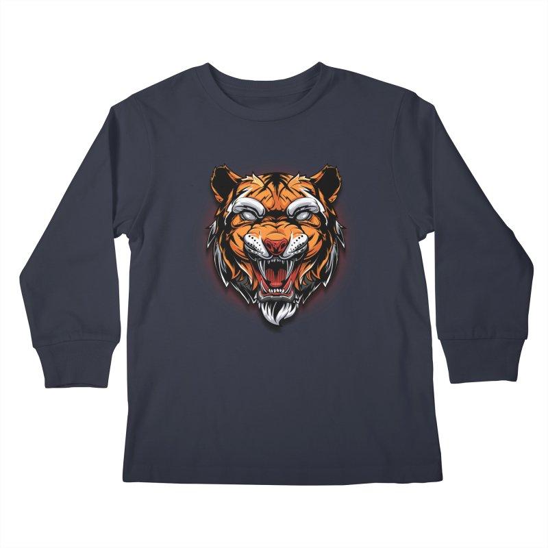 Tiger Kids Longsleeve T-Shirt by fishark's Artist Shop