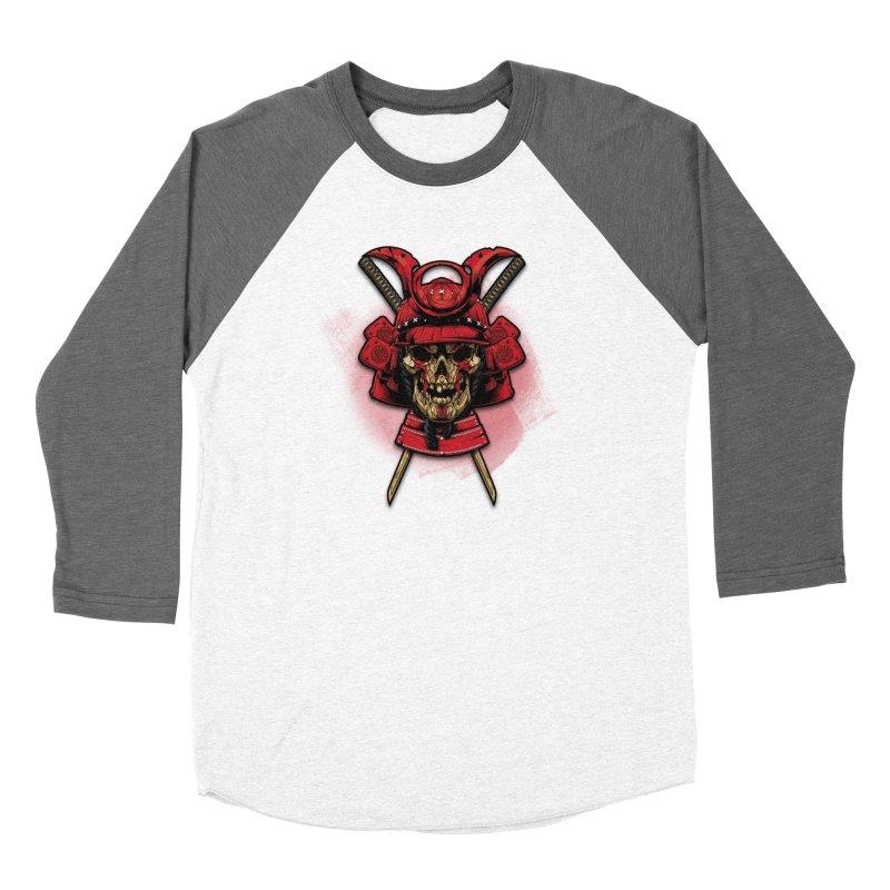 Skull Samurai Women's Longsleeve T-Shirt by fishark's Artist Shop