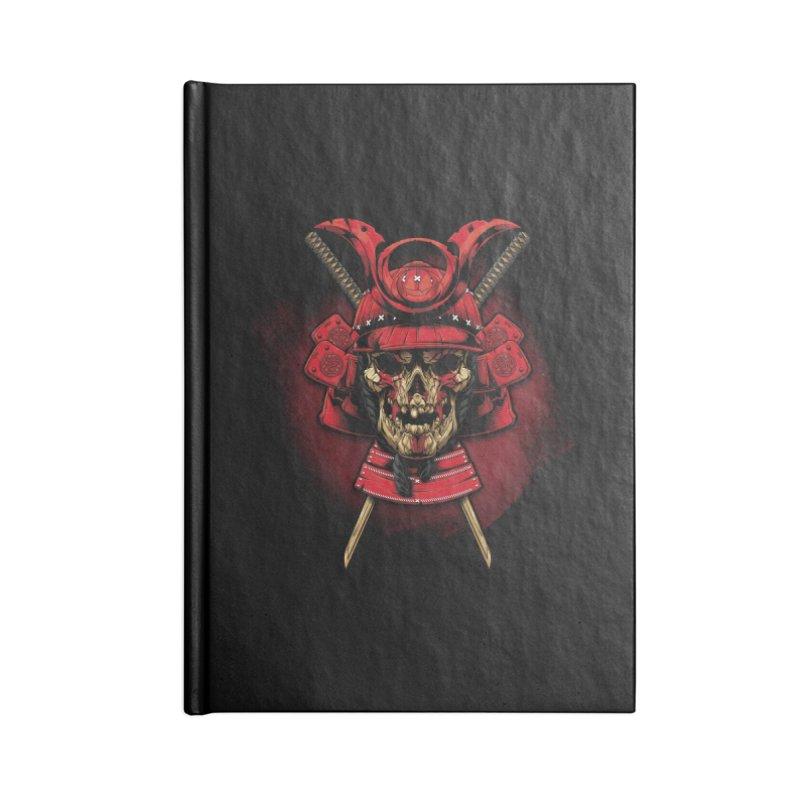Skull Samurai Accessories Lined Journal Notebook by fishark's Artist Shop