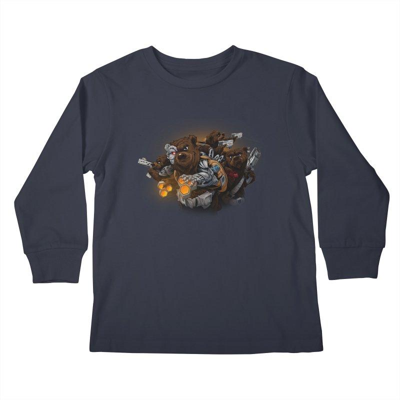 Cyber bears Kids Longsleeve T-Shirt by fishark's Artist Shop