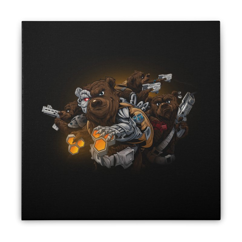 Cyber bears Home Stretched Canvas by fishark's Artist Shop