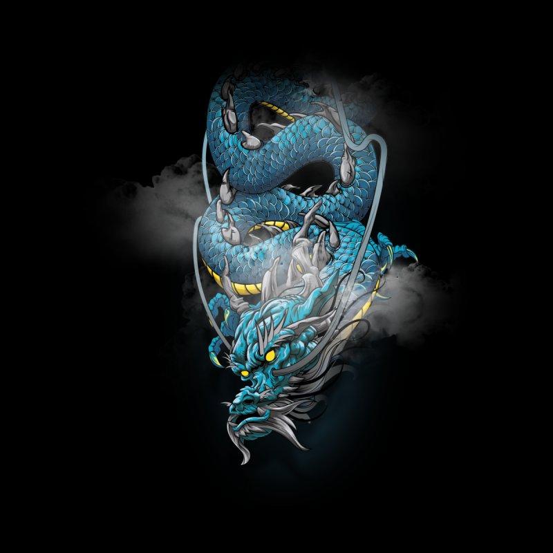 Japanese dragon Kids Longsleeve T-Shirt by fishark's Artist Shop