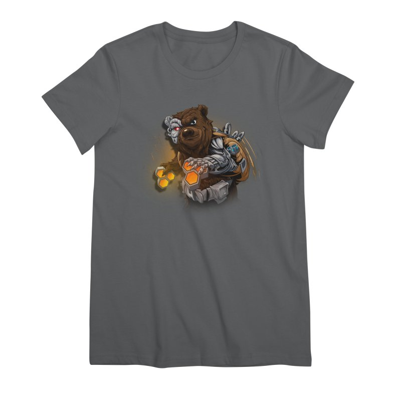 Cyber bear Women's T-Shirt by fishark's Artist Shop