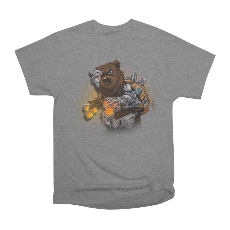 Cyber bear Women's Heavyweight Unisex T-Shirt by fishark's Artist Shop