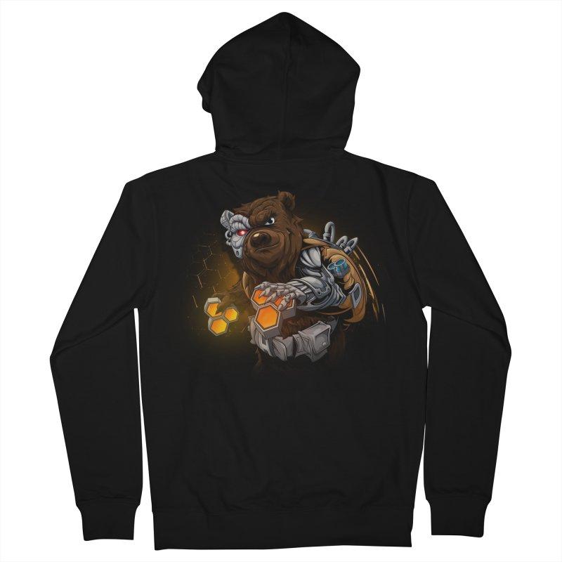 Cyber bear Men's French Terry Zip-Up Hoody by fishark's Artist Shop