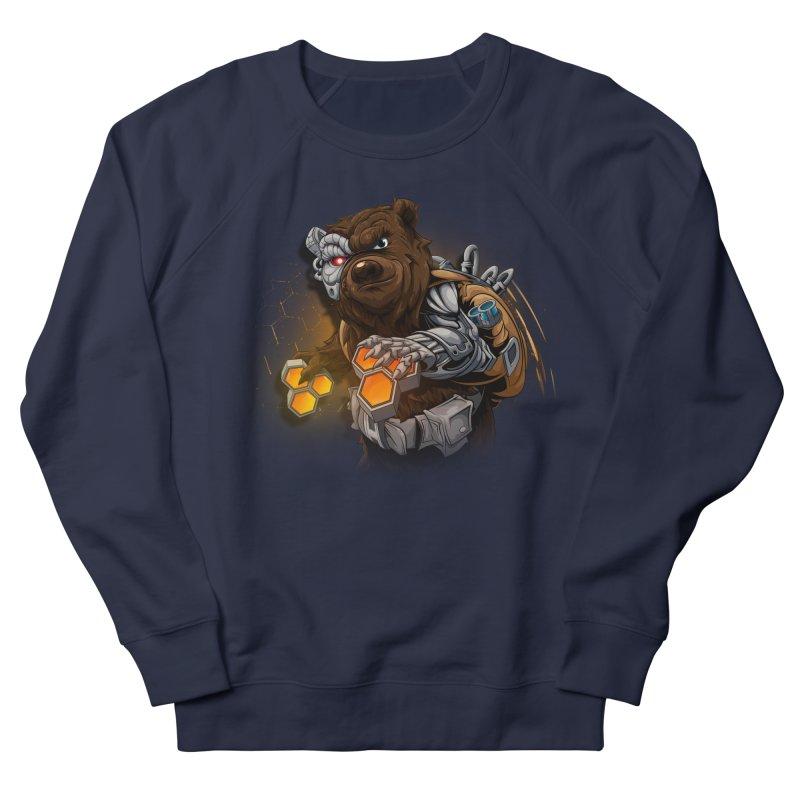 Cyber bear Men's French Terry Sweatshirt by fishark's Artist Shop
