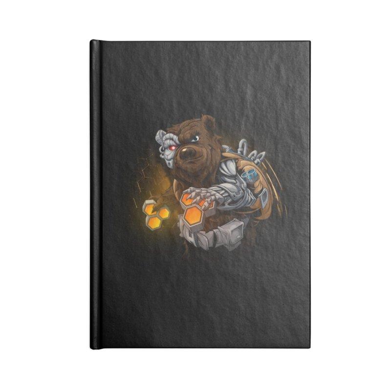 Cyber bear Accessories Lined Journal Notebook by fishark's Artist Shop