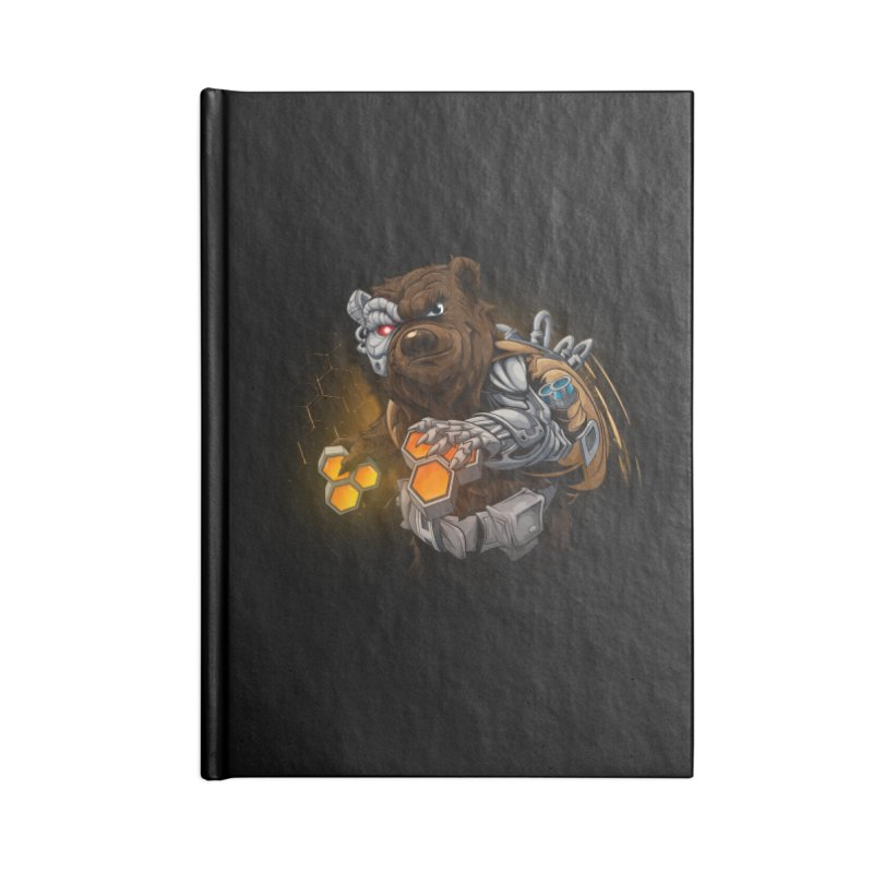 Cyber bear Accessories Blank Journal Notebook by fishark's Artist Shop