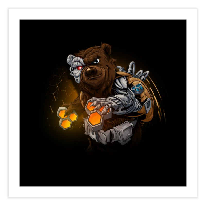 Cyber bear Home Fine Art Print by fishark's Artist Shop